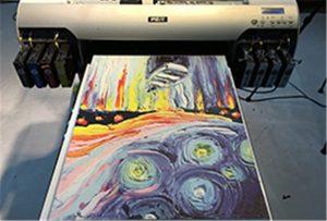 Leinwand Probe von A2 UV-Drucker WER-EH4880UV