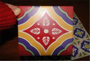 Keramikfliese Probe gedruckt auf A2 UV-Drucker WER-D4880UV