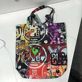 Non-Woven-Tasche Druckprobe von A1 digitalen Textildrucker WER-EP6090T