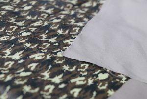 Textildruckprobe 1 durch digitale Textildruckmaschine WER-EP7880T
